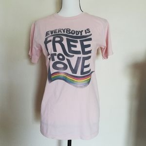 Everybody Is Free To Love Graphic Tee Shirt